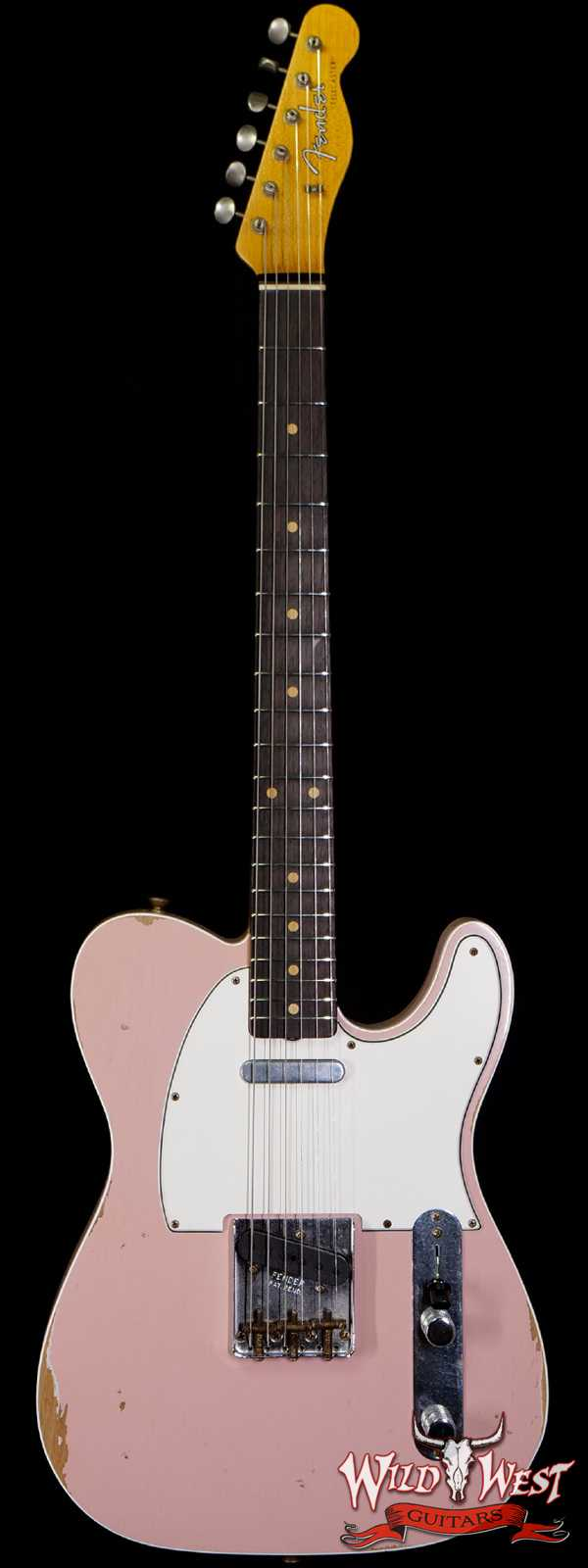 Fender Custom Shop 1960 Telecaster Custom Relic Quater-Sawn Maple AAA Rosewood Fingerboard Shell Pink
