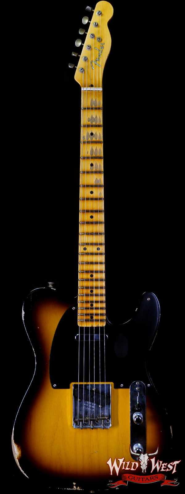 Fender Custom Shop 1951 Telecaster Relic Maple Neck 2 Tone Sunburst 7.15 LBS