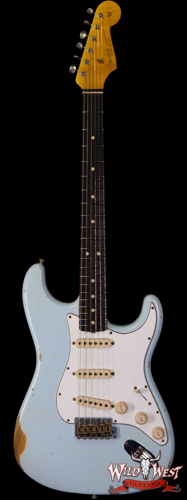 Fender Custom Shop 1963 Stratocaster Relic AAA Rosewood Board with Quartersawn Maple Neck Sonic Blue