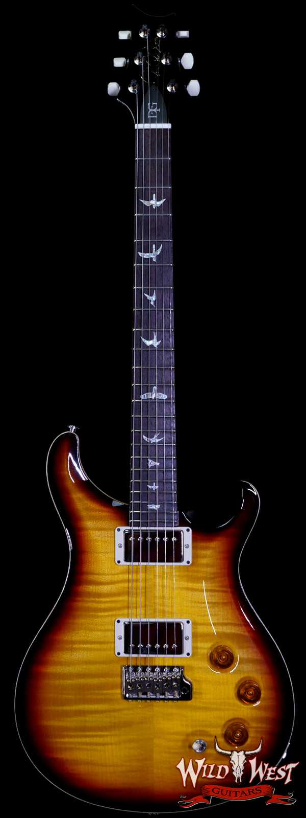 Paul Reed Smith PRS Core DGT David Grissom Trem Birds Inlay Tri-Color Burst