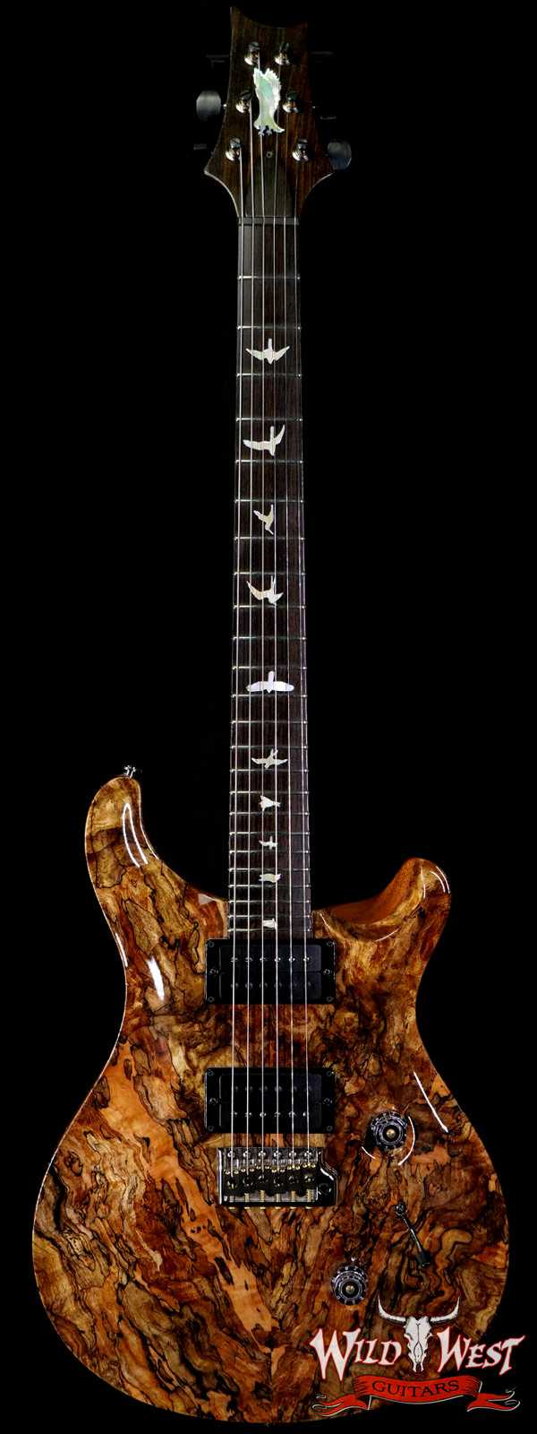 Paul Reed Smith Private Stock # 8481 Custom 24 Spalted Maple Top Roasted Flame Mahogany Neck African Blackwood Fingerboard Natural