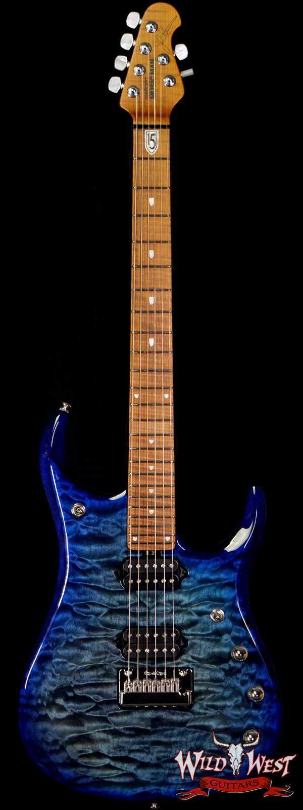 Ernie Ball Music Man John Petrucci JP-15 Piezo Quilt Maple Top Cerulean Paradise