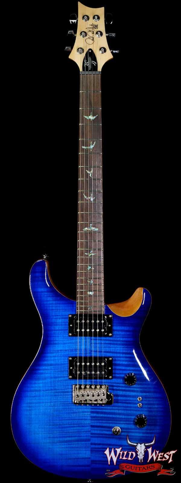 Paul Reed Smith PRS 35th Anniversary SE Custom 24 Faded Blue Burst C24185