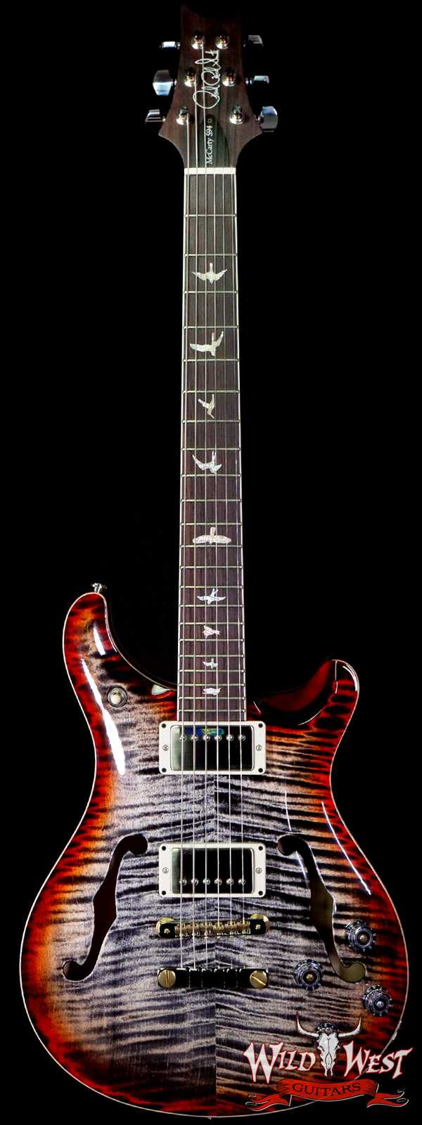 Paul Reed Smith PRS Core McCarty 594 Hollowbody II HB2 Charcoal Cherry Burst
