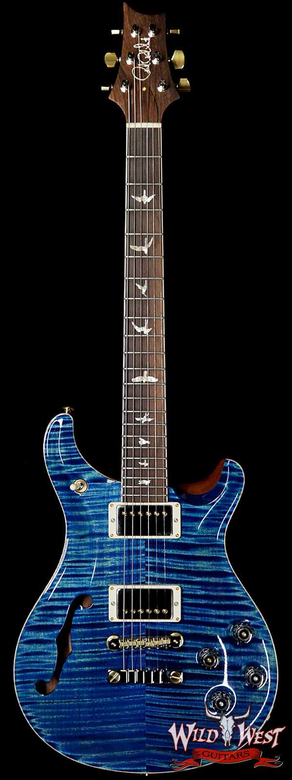 PRS Wild West Guitars 20th Anniversary Limited Run # 27 of 40 Wood Library Artist Package Semi-Hollow McCarty 594 River Blue