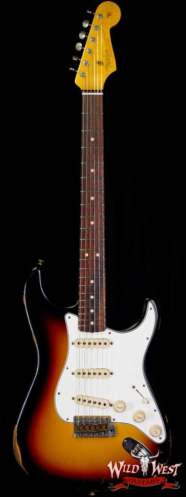 Fender Custom Shop 1963 Stratocaster Relic AAA Rosewood Board with Quartersawn Maple Neck 3 Tone Sunburst