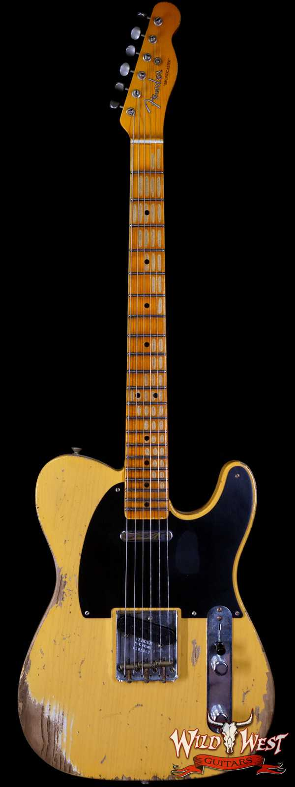Fender Custom Shop 70th Anniversary Broadcaster Heavy Relic Aged Nocaster Blonde Hand-Wound Pickups R105842