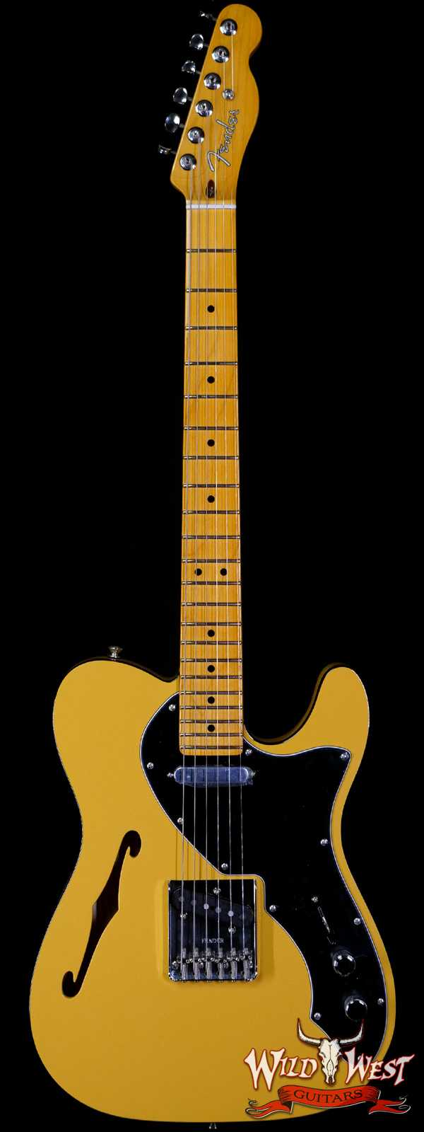 Fender USA Britt Daniel Tele® Thinline Telecaster Amarillo Gold Custom Shop Pickups R19075961
