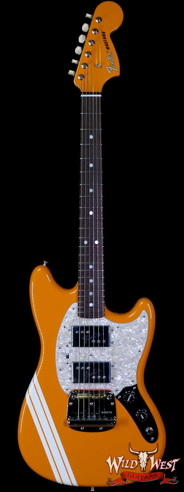 Fender Custom Shop Paul Waller Materbuilt HH Mustang NOS with Racing Stripe Capri Orange