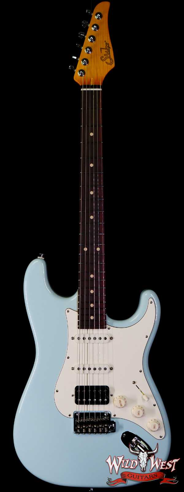 Suhr Classic S HSS Quater-Sawn Maple Neck with Indian Rosewood Sonic Blue