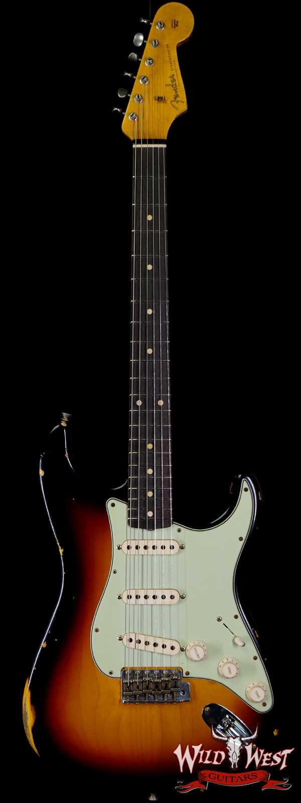 Fender Custom Shop 1961 Stratocaster Relic AAA Rosewood Slab Board Maple Neck 3 Tone Sunburst