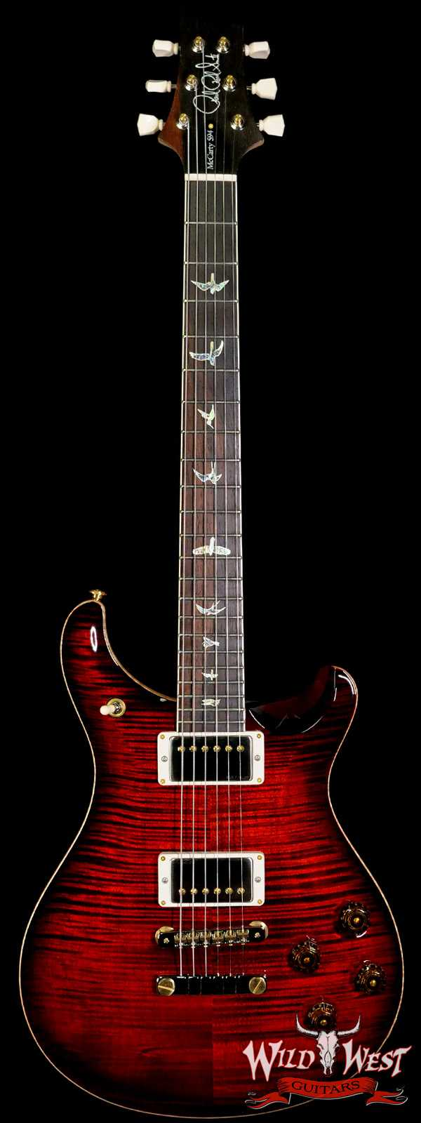 Paul Reed Smith PRS 2020 Experience 10 Top McCarty 594 Flame Maple Neck Brazillian Rosewood Board Black Cherry