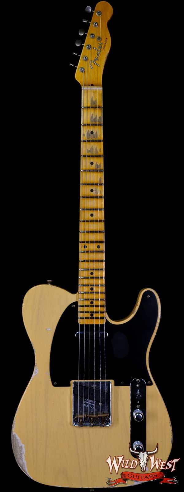 Fender Custom Shop 1952 Telecaster Relic Ash Body Maple Neck Nocaster Blonde 7.05 LBS