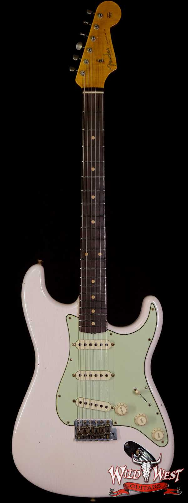 2020 Fender Summer Event LTD Custom Shop 1960 Stratocaster Journeyman Relic Dirty Neck Hand-Wound PUs Super Faded Aged Shell Pink
