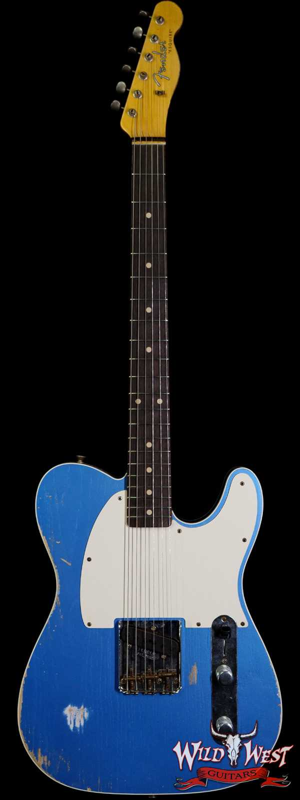 Fender Custom Shop 60's Esquire Relic (Telecaster Custom) AAA Rosewood Slab Board Lake Placid Blue