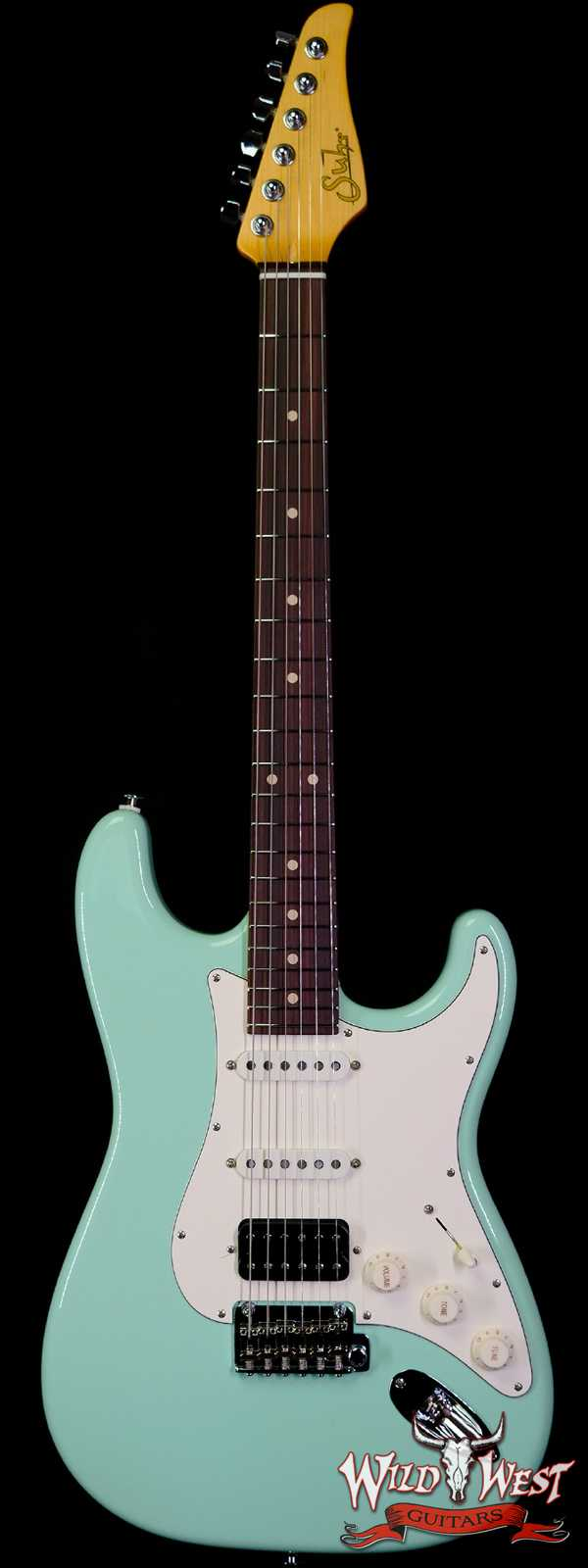 Suhr Classic S HSS Quater-Sawn Maple Neck with Indian Rosewood Surf Green