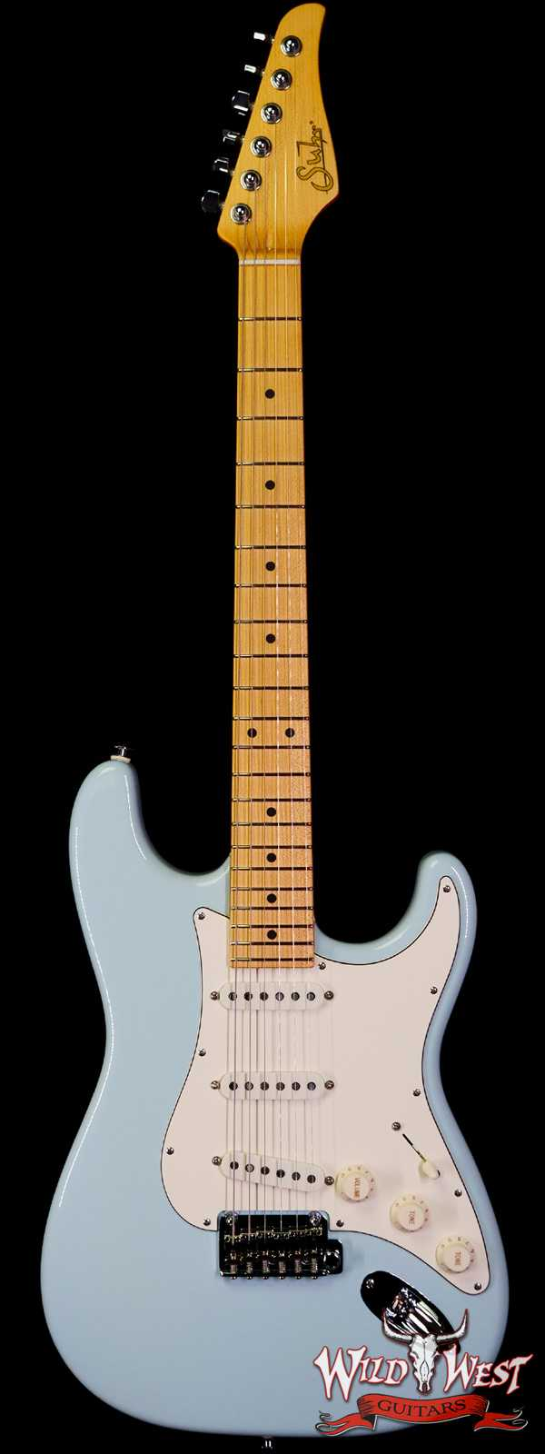Suhr Classic S SSS Quater-Sawn Maple Neck Sonic Blue