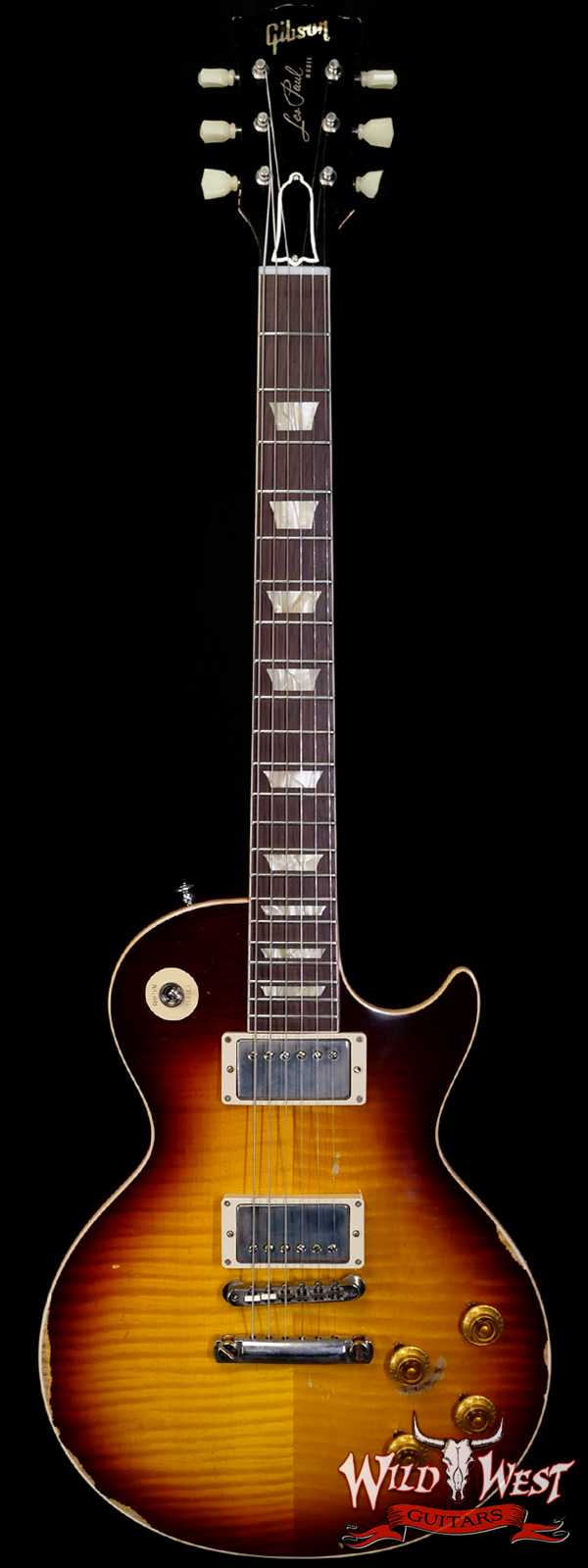 Gibson Custom Shop M2M Hand Selected Kill Top 60th Anniversary 1959 Les Paul Standard Heavy Aged Faded Tobacco Burst 8.40 LBS