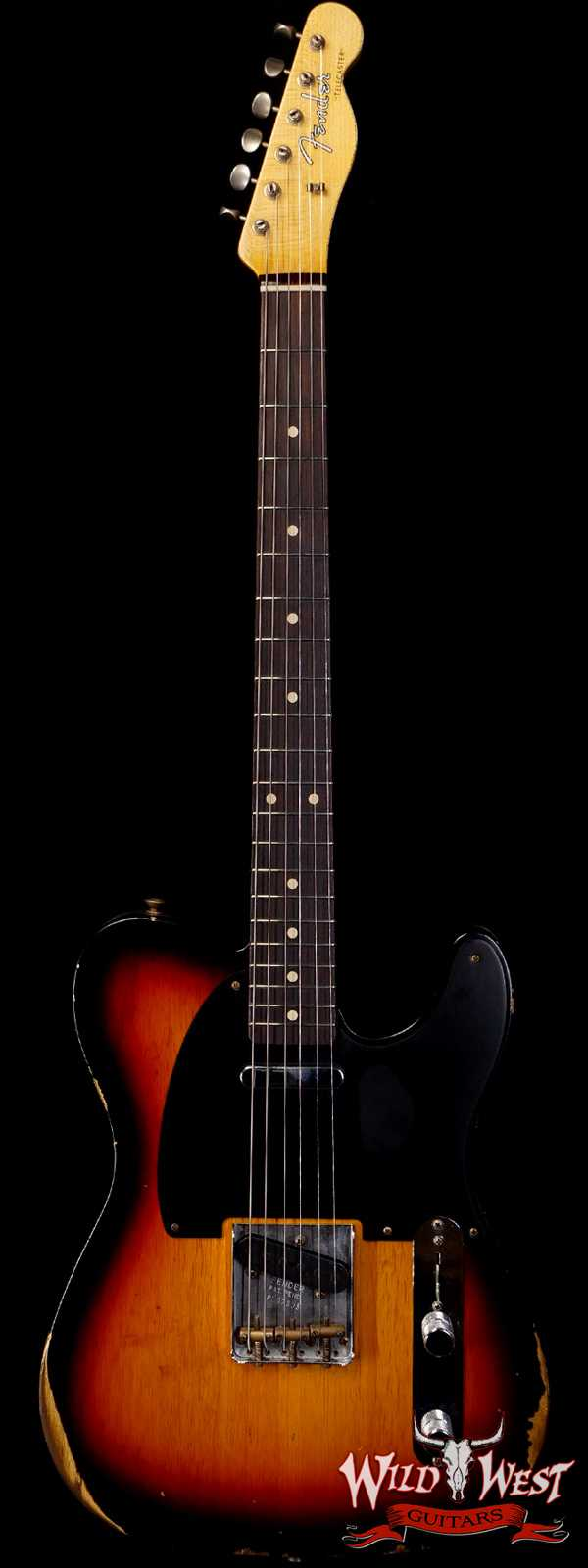 Fender Custom Shop 1961 Telecaster Relic Quater-Sawn Maple AAA Rosewood Fingerboard 3 Tone Sunburst