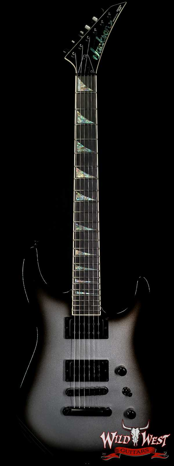 Jackson Custom Shop Soloist SL2H HT Hardtail TonePros Tune-o-Matic Bridge with Stopbar Tailpiece Silverburst