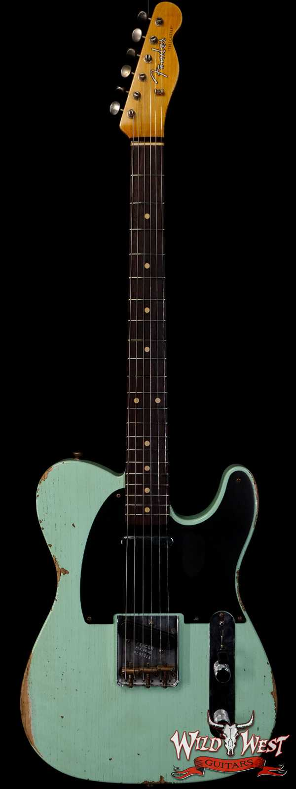 Fender Custom Shop 1961 Telecaster Relic Quater-Sawn Maple AAA Rosewood Fingerboard Surf Green