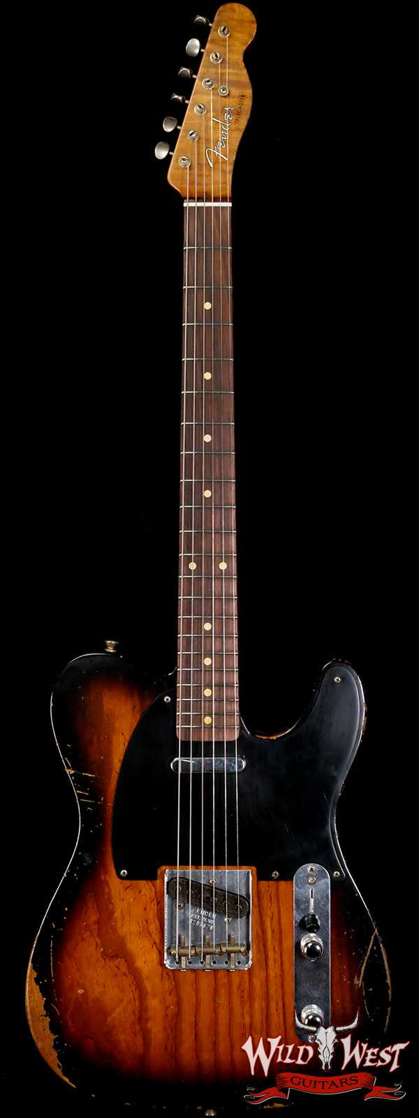 Fender Custom Shop Ron Thorn Masterbuilt 1952 Telecaster Relic Ash Body Rosewood Fingerboard 2 Tone Sunburst 6.65 LBS