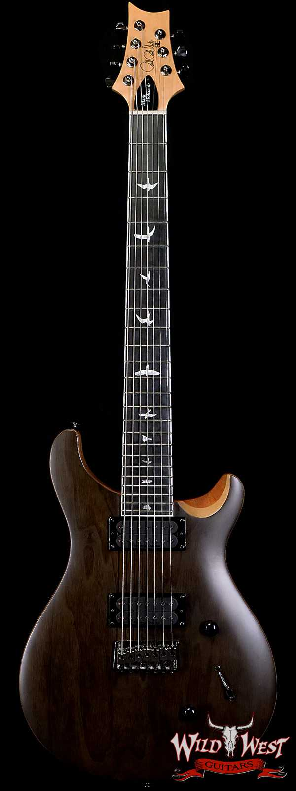 Paul Reed Smith PRS SE Mark Holcomb SVN Signature 7-String Guitar Natural Satin (Walnut Veneer)