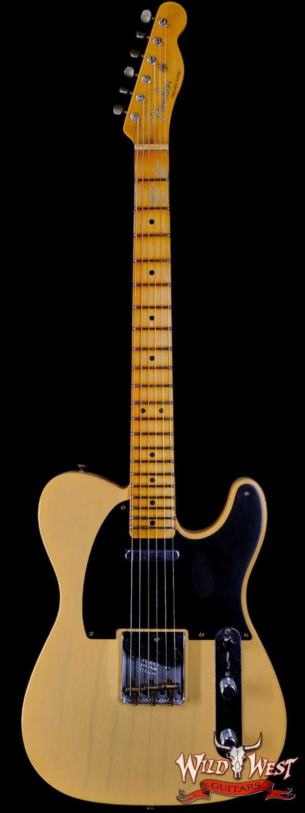 Fender Custom Shop Limited Edition 70th Anniversary Broadcaster (Telecaster) Journeyman Relic Nocaster Blonde R108696