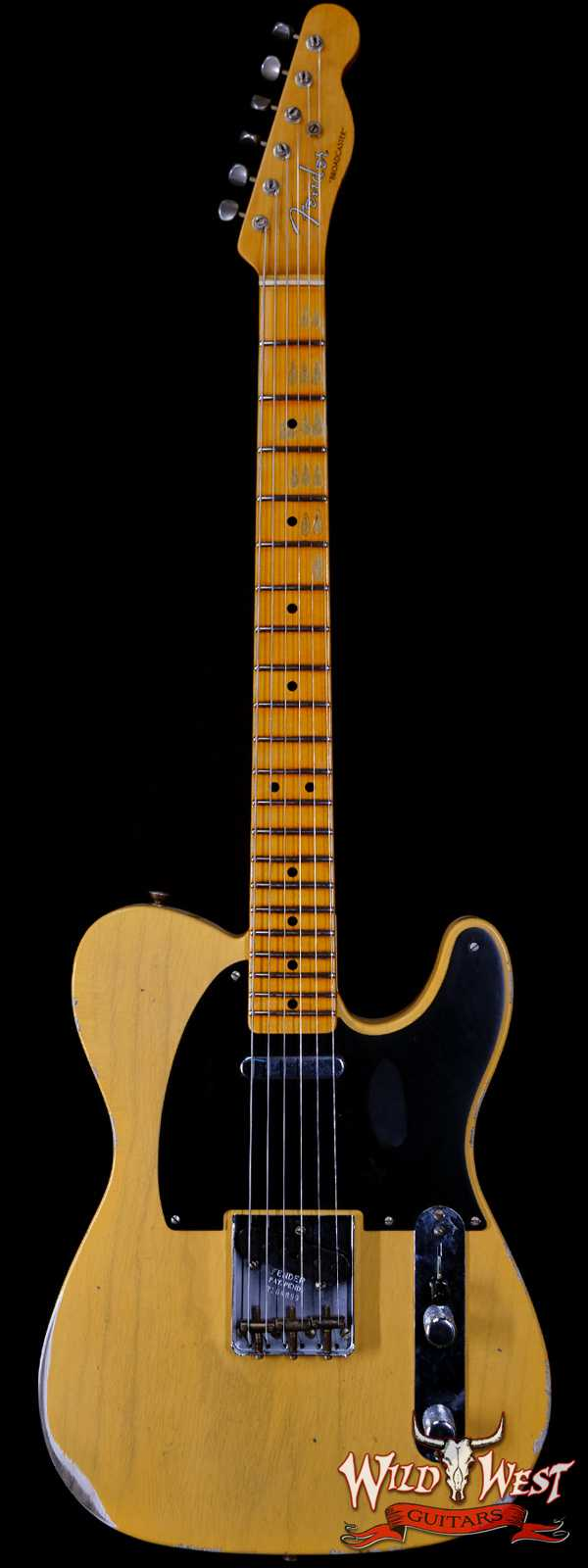 Fender Custom Shop Limited Edition 70th Anniversary Broadcaster (Telecaster) Relic Nocaster Blonde R108899