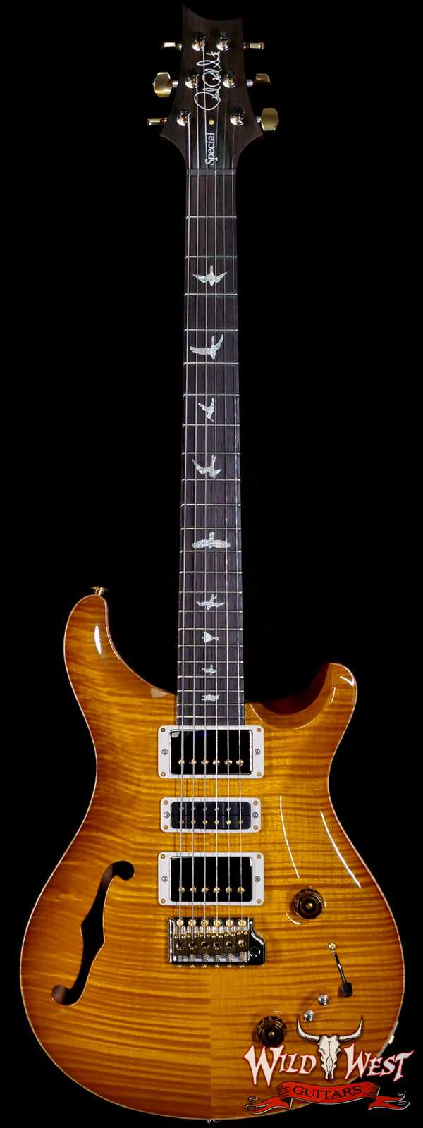 PRS Wood Library 10 Top Special 22 Semi-Hollow Flame Mahogany Neck Brazilian Rosewood Fingerboard McCarty Sunburst