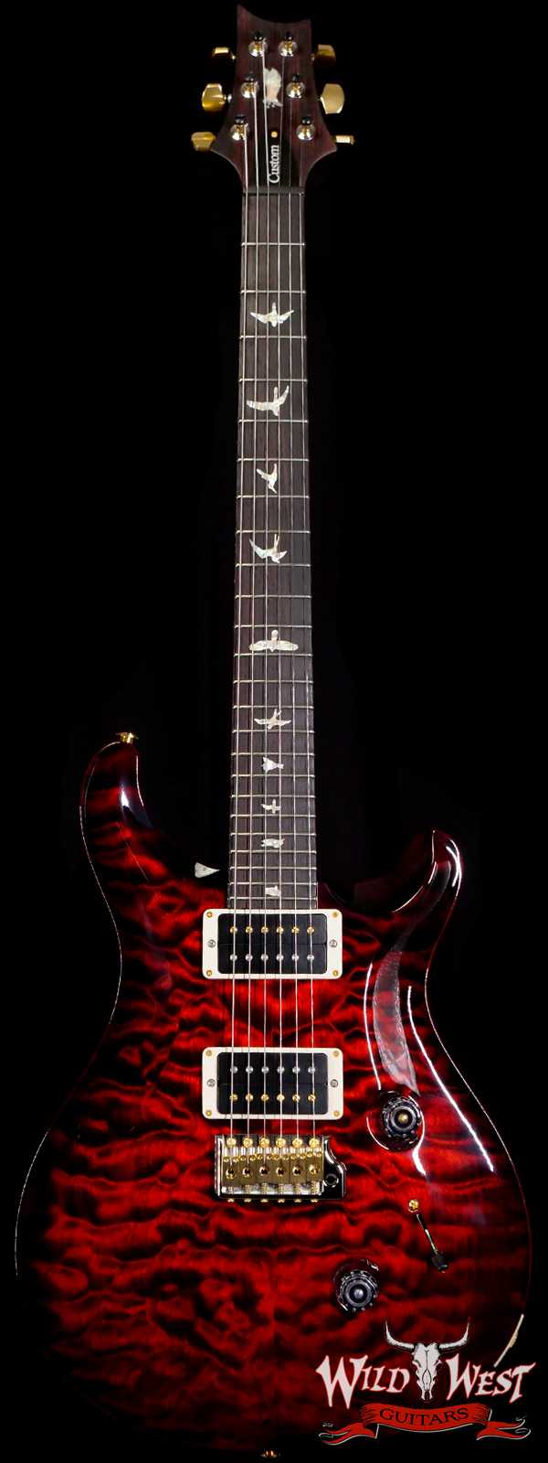 Paul Reed Smith PRS Quilt 10 Top Custom 24 with 35th Anniversary Eagle Fire Red Burst