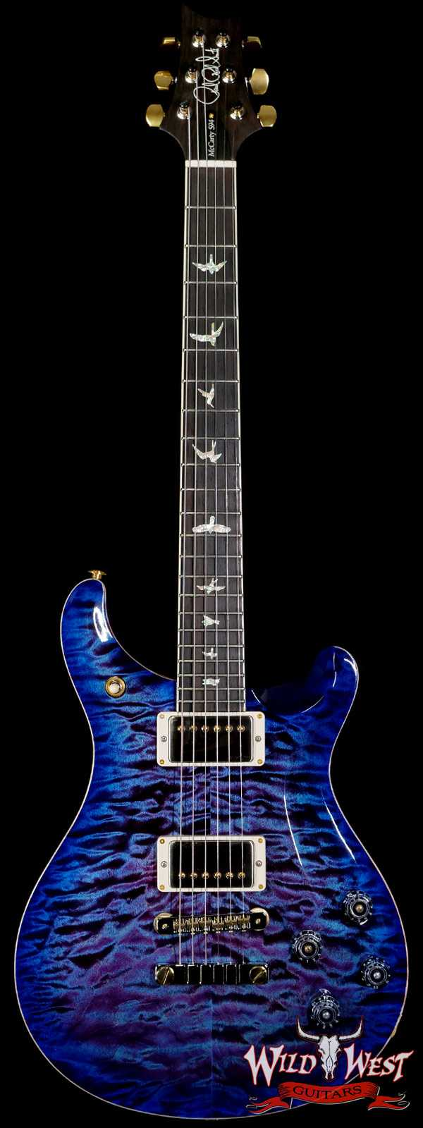PRS Wood Library Quilt 10 Top McCarty 594 Brazilian Rosewood Fingerboard Violet Blue Burst