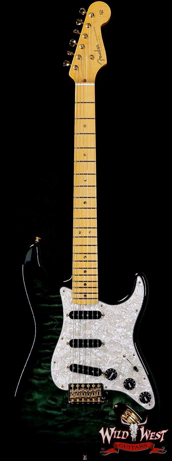 Fender Custom Shop Yuriy Shishkov Masterbuilt 1960 Stratocaster NOS Quilt Maple Top Emerald Green Burst