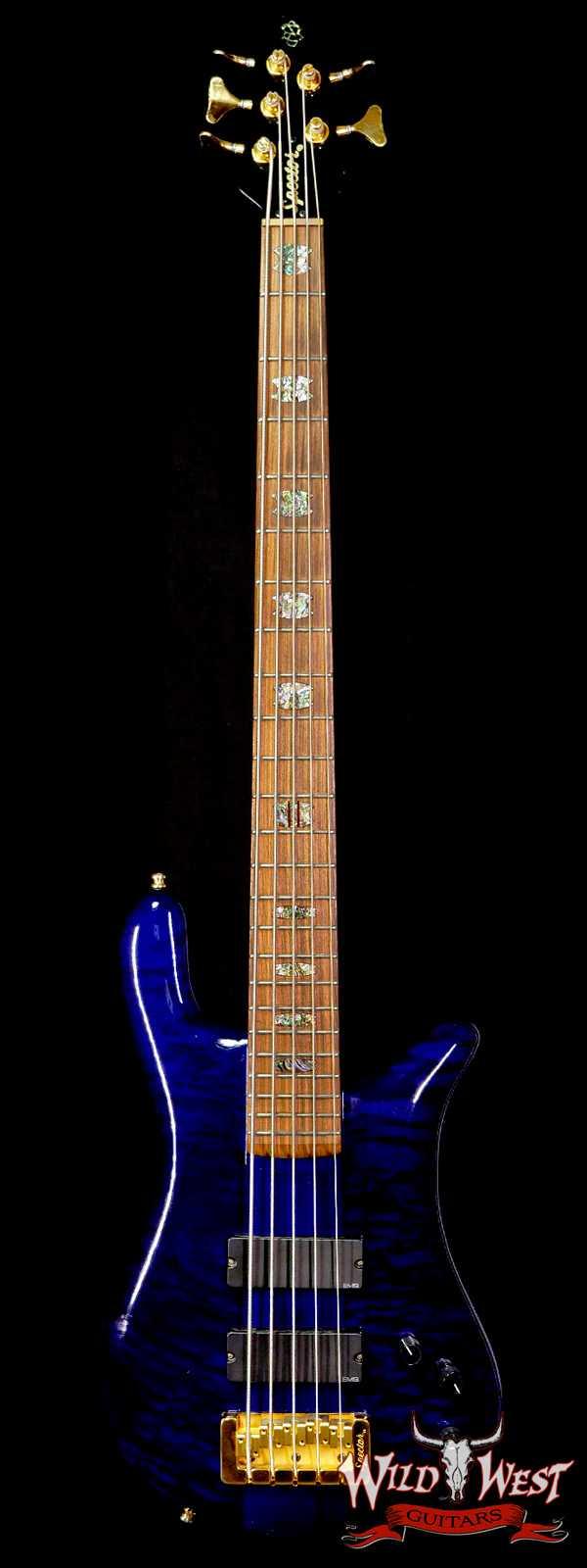 Spector USA NS-5XL #020 5-String Bass Guitar Trans Blue EMG Pickups Aug 20th 1999