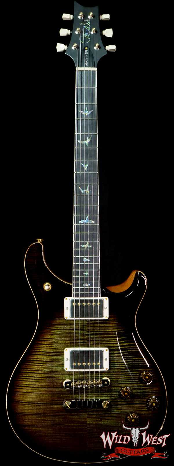 Paul Reed Smith PRS Core McCarty 594  Artist Package Ebony Board Rosewood Neck Mash Green Tobacco Burst