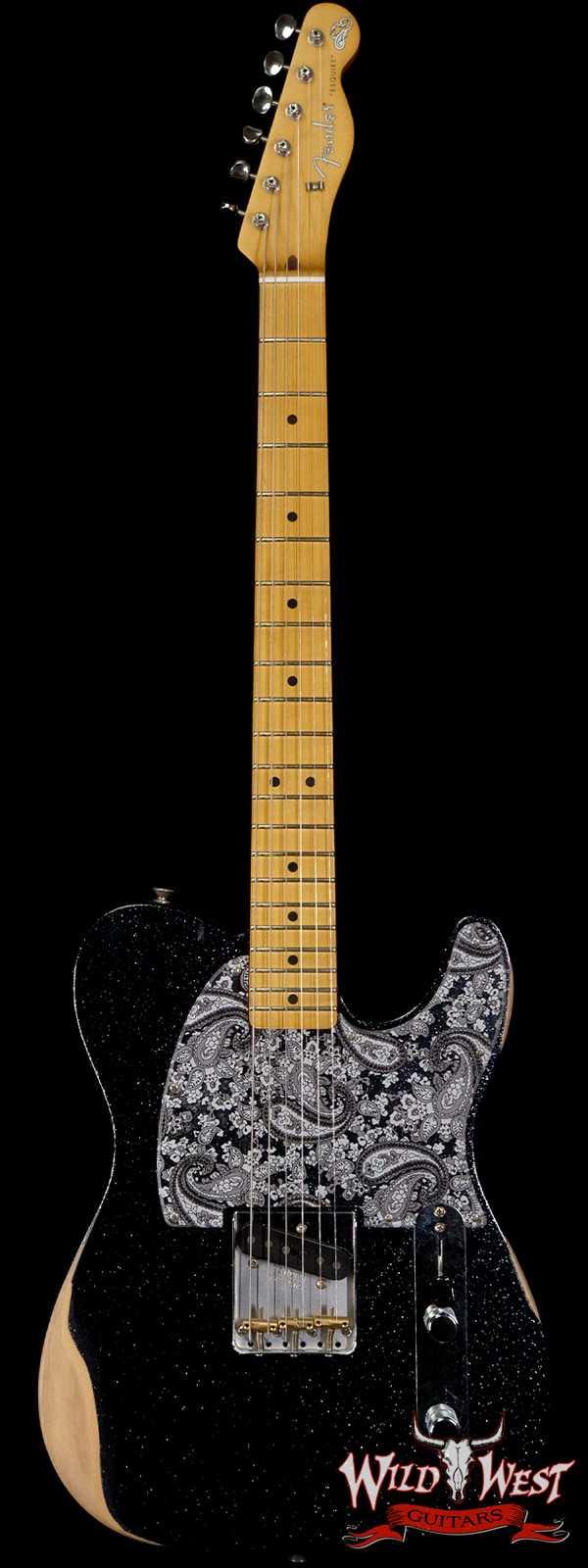 Fender Brad Paisley Esquire Road Worn Black Sparkle 5 LBS 15 OZ