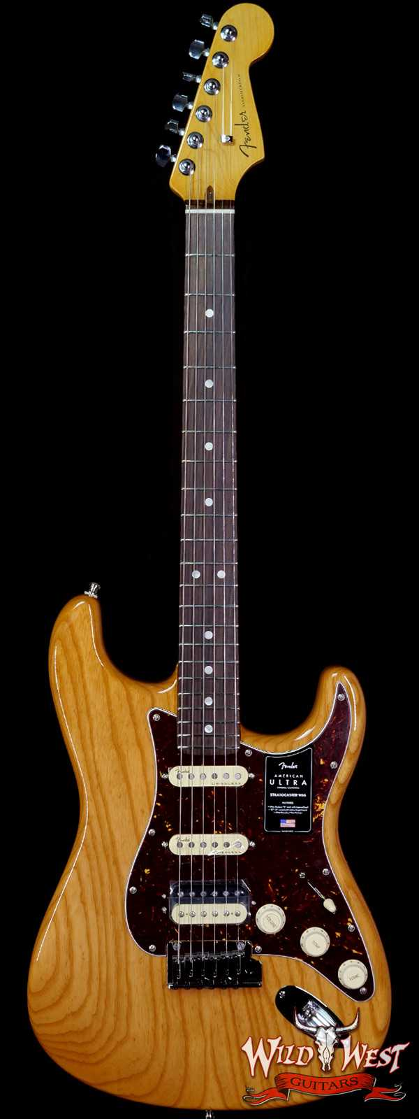 Fender American Ultra Stratocaster HSS Ash Body Rosewood Fingerboard Aged Natural