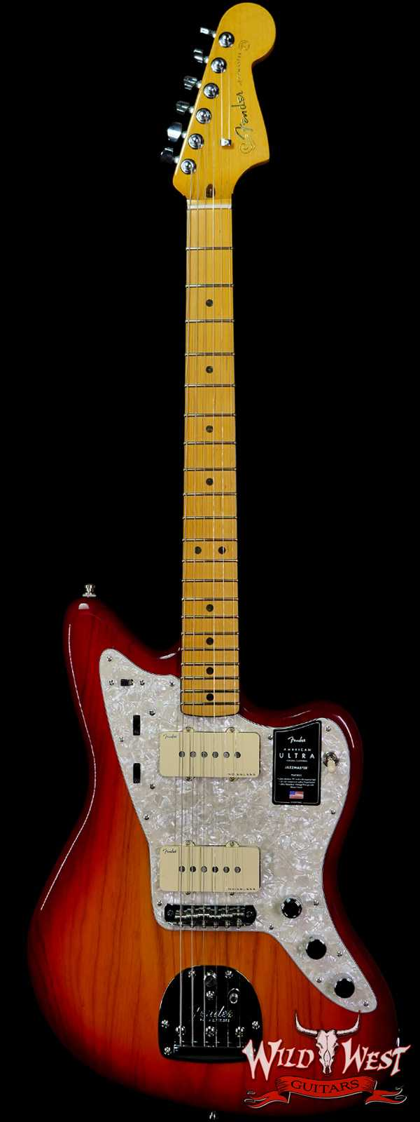 Fender American Ultra Jazzmaster Ash Body Maple Fingerboard Plasma Red Burst
