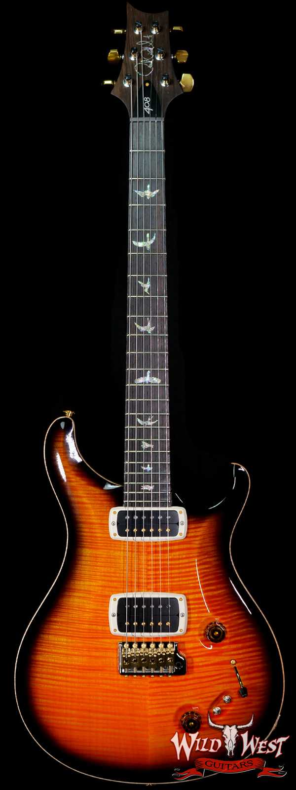 Paul Reed Smith PRS Artist Package 408 Flame Maple Top Brazilian Rosewood Board Solana Smokeburst