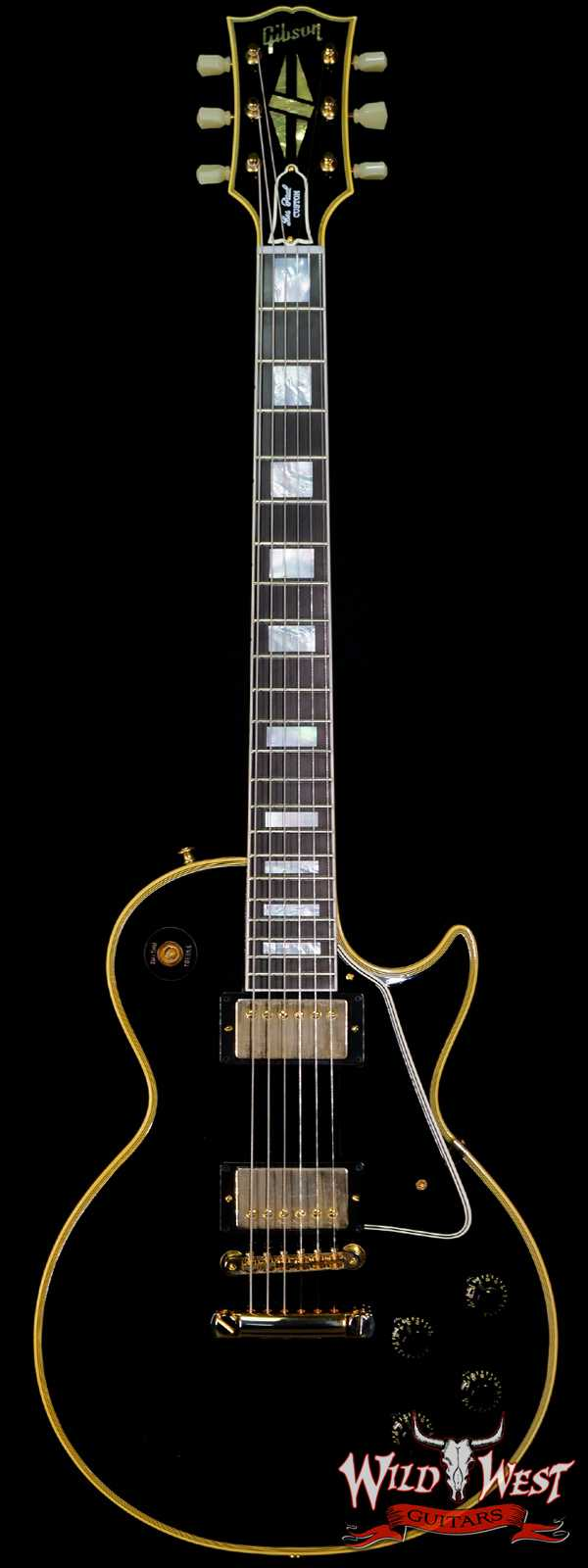 Gibson Customn Shop Murphy Lab 1957 Les Paul Custom 2-Pickup Ebony Fingerboard Ultra Light Aged Ebony(Black)