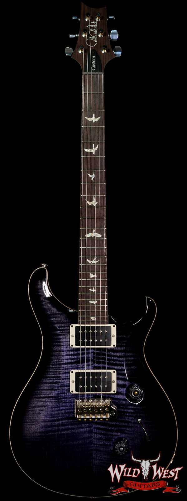 Paul Reed Smith PRS Core Custom 24 Flame Maple Top East Indian Rosewood Fingerboard Purple Mist