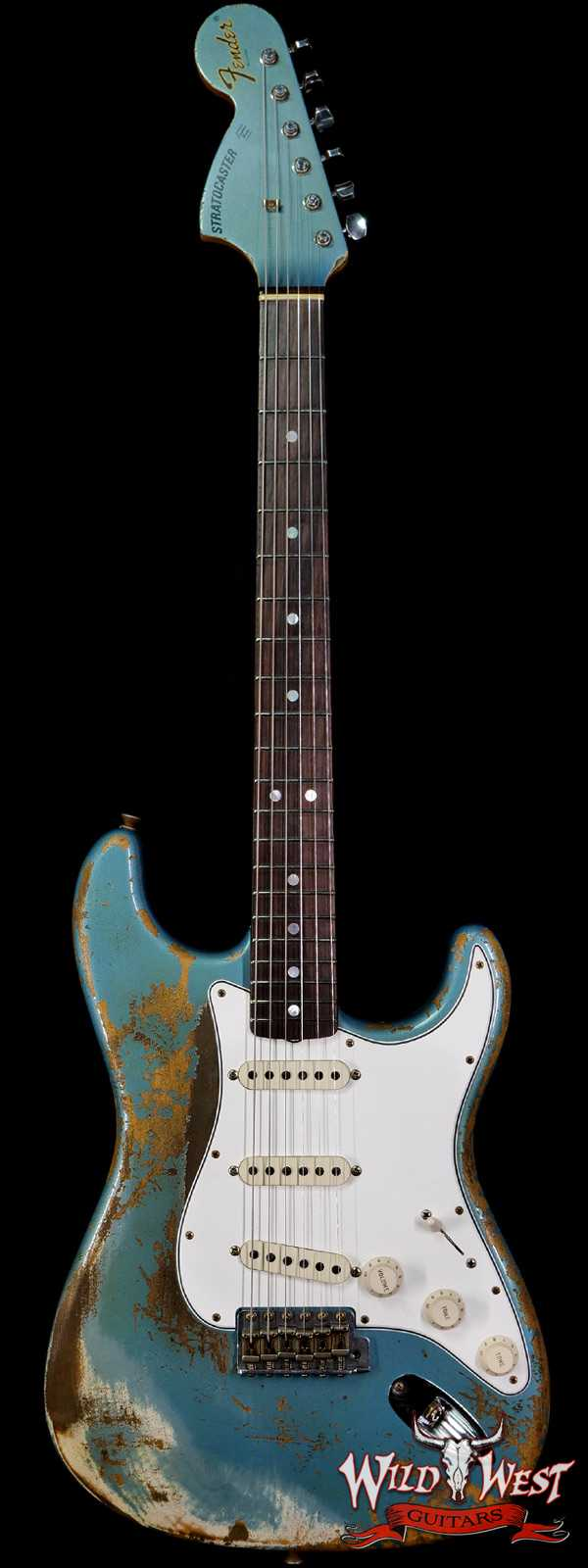 Fender Custom Shop 1969 Stratocaster Super Heavy Relic Reverse Matching Headstock Blue Agave