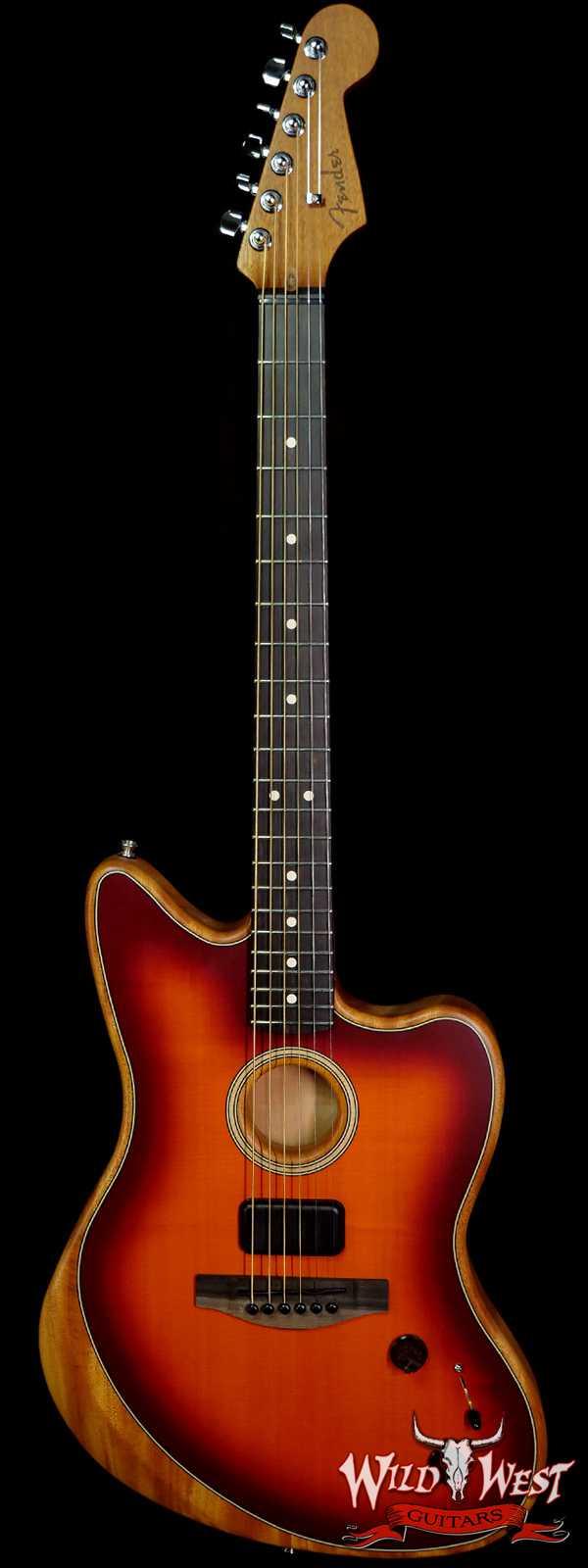 Fender American Acoustasonic Jazzmaster Ebony Fingerboard Tobacco Sunburst