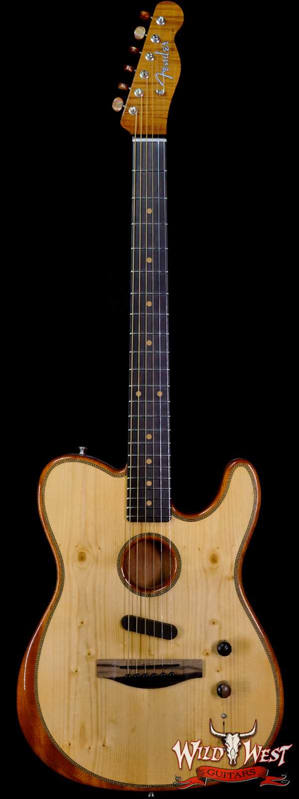 Fender Custom Shop Chris Fleming Masterbuilt Knotty Acoustasonic Telecaster Deluxe Closet Classic