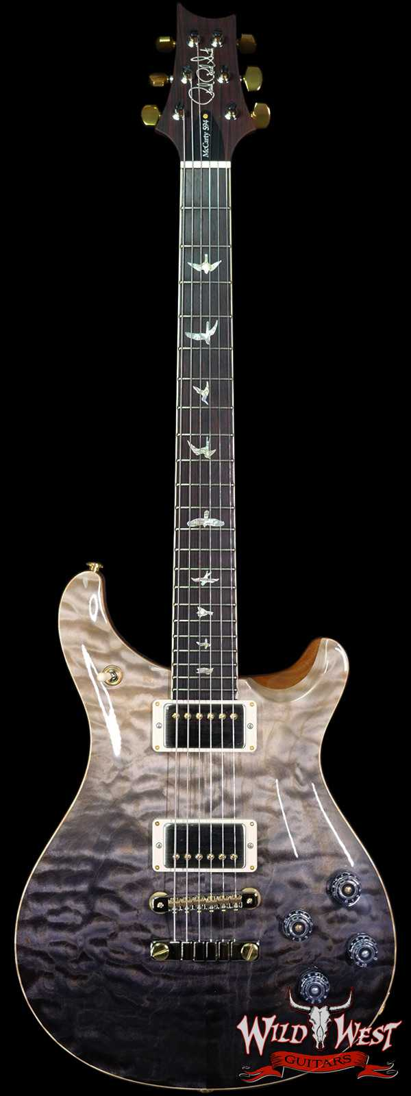 Paul Reed Smith PRS Wood Library Quilt 10 Top McCarty 594 Cocobolo Fingerboard Grey Black Fade