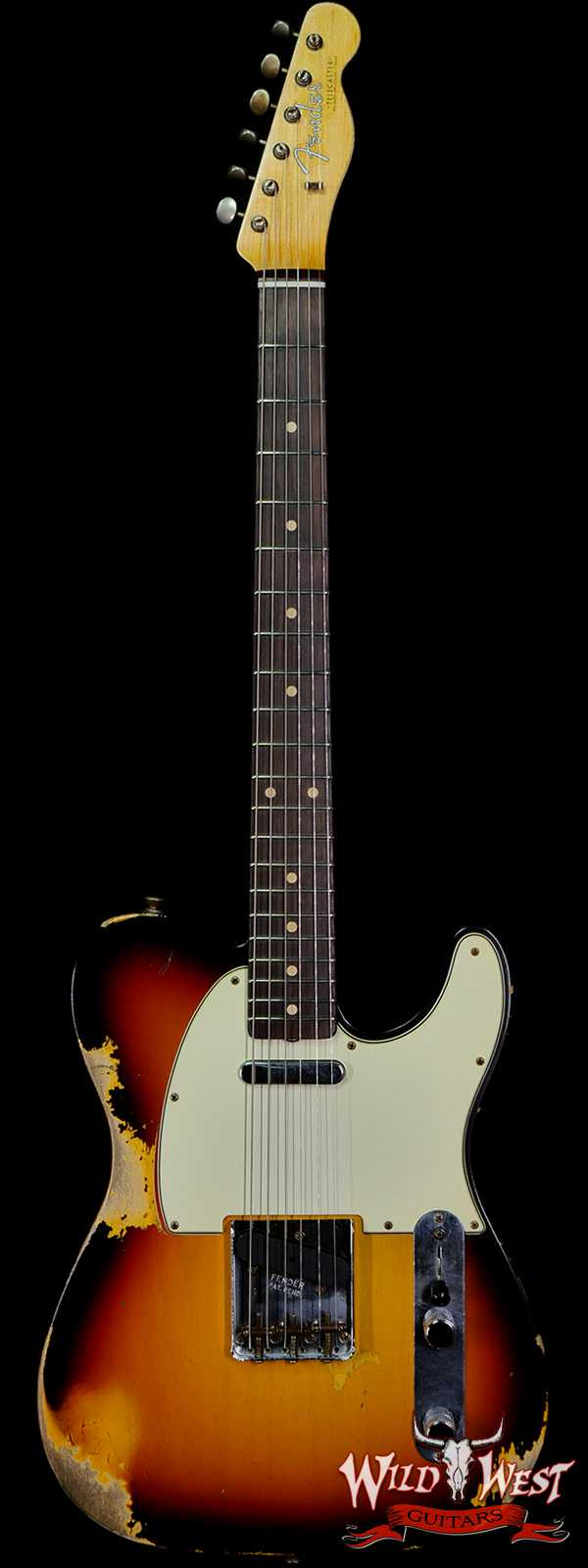 Fender Custom Shop 1961 Telecaster Heavy Relic Hand-Wound Pickups Painted Neck 3 Tone Sunburst