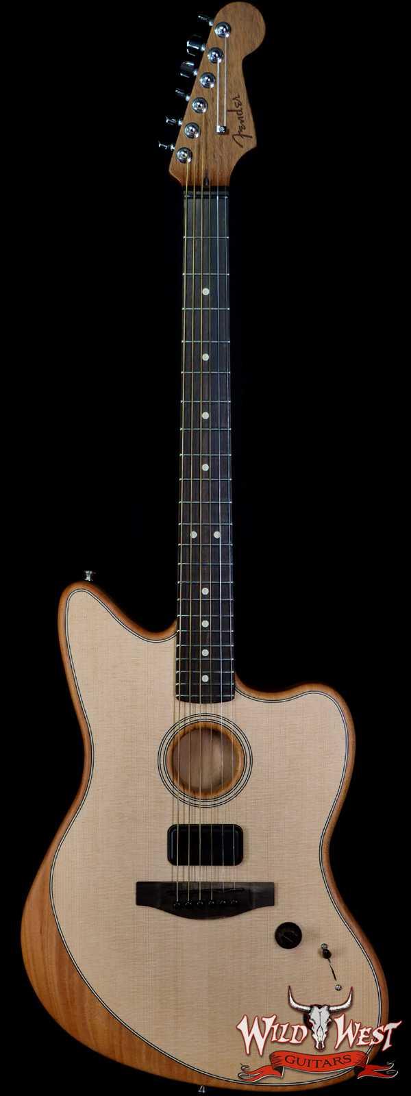 Fender American Acoustasonic Jazzmaster Ebony Fingerboard Natural
