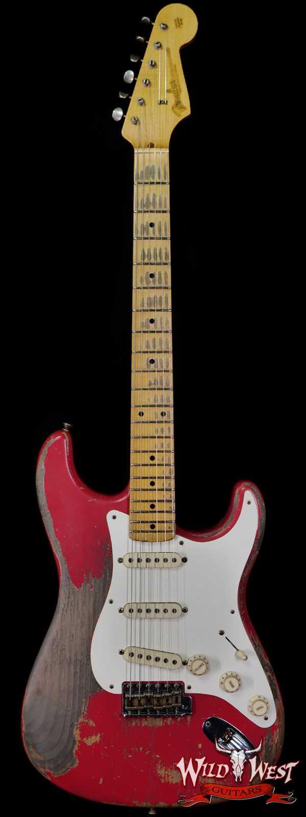 Fender Custom Shop Greg Fessler Masterbuilt 1959 Stratocaster Heavy Relic Josefina Hand-wound Pickups Fiesta Red