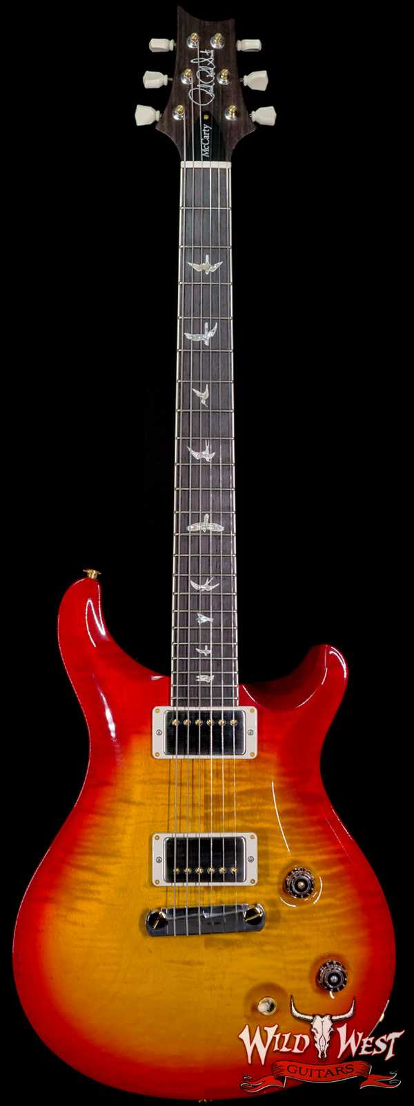 Paul Reed Smith PRS Core McCarty Flame 10 Top East Indian Rosewood Fingerboard Cherry Sunburst