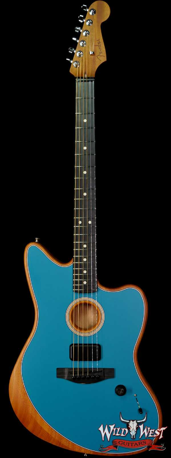 Fender American Acoustasonic Jazzmaster Ebony Fingerboard Ocean Turquoise